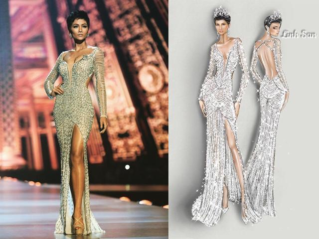 Cận cảnh chiếc váy 3000 viên đá quý như kim cương giúp HHen Niê làm nên kỳ tích
