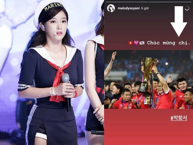 Cười rụng rốn vì ca sĩ Hàn mắc lỗi dịch sai tiếng Việt khi chúc mừng HLV Park Hang-seo