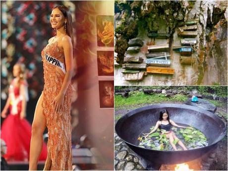 """Quan tài treo, tắm trong """"vạc dầu"""" và những điều sốc độc ở quê hương Tân Hoa hậu Hoàn vũ"""