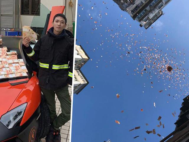 Rải tiền từ nóc tòa nhà tạo cơn mưa, triệu phú Hong Kong ngay lập tức bị bắt