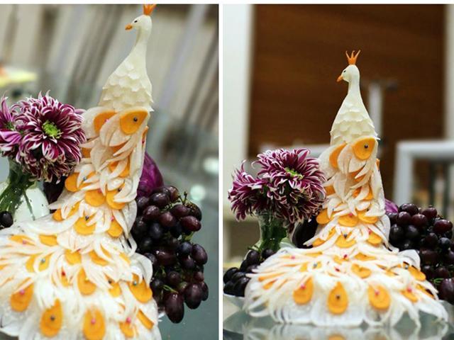 Bị chê vụng, dâu đảm trang trí bàn ăn, hoa quả cực sành điệu, mẹ chồng tròn mắt ngạc nhiên