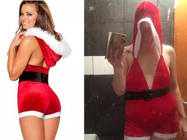 Thảm hoạ thời trang online không chừa một ai, đến váy Giáng Sinh đơn giản còn bị lừa
