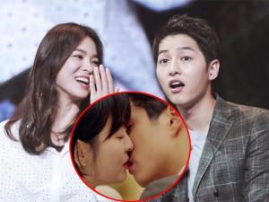 """Vừa công khai hôn trai trẻ, Song Hye Kyo vội vã đến phim trường """"nhận tội"""" với Song Joong Ki?"""