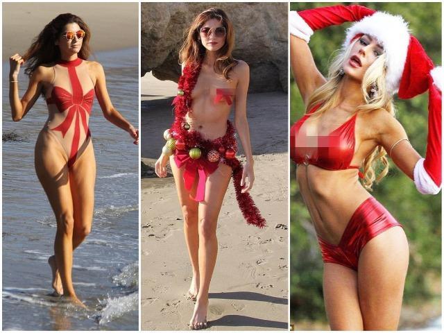 Áo tắm trong suốt, mặc như không: Trang phục bạo nhất ngày Noel là đây chứ đâu