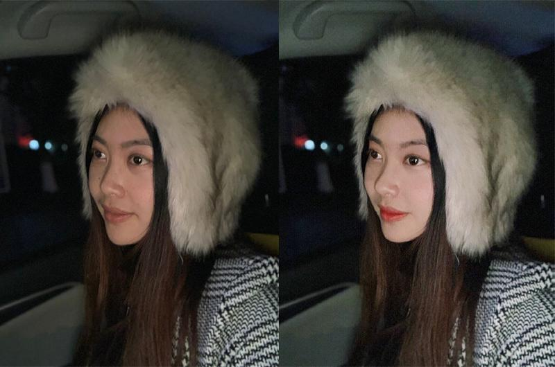 Từ một cô nàng trông khá xanh xao vì mặt mộc, cô nàng này đã hóa hot girl sau một vài đường quẹt son phấn bằng photoshop.