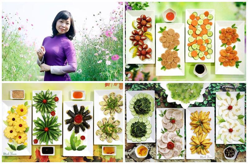 Là giảng viên Tiếng Anh của một trường Đại học ở Hà Nội, nhưng chị Minh Thuận rất đam mê nấu ăn cho chồng và con. Chị thường chia sẻ nhiều mâm cơm ngon, hấp dẫn, đặc biệt là vô cùng sáng tạo trong cách trang trí.
