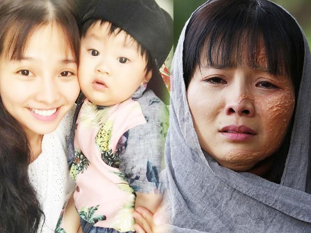 Con trai Khánh Hiền khóc thét vì không nhận ra khuôn mặt bị tạt a xít dị dạng của mẹ