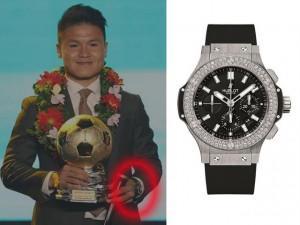 Tiền thưởng vào như nước, Quang Hải mạnh tay sắm đồng hồ kim cương giá 300 triệu