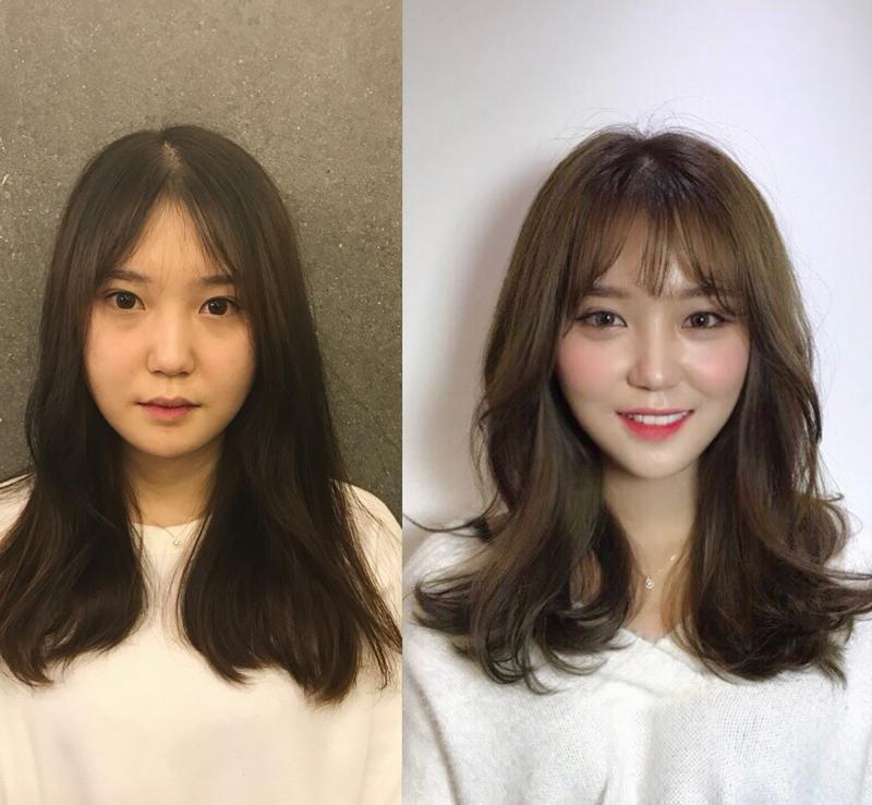 Cô gái này đã lột xác hoàn toàn nhờ thay đổi kiểu tóc. Sự trẻ trung, năng động, hợp khuôn mặt đã làm cô tăng vài phần nhan sắc.