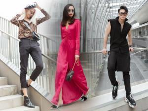 Lê Thuý, Lê Xuân Tiền, Mid Nguyễn khoe street style chất ngất tổng duyệt show thời trang