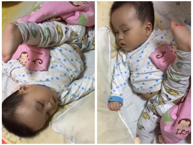 Những tư thế ngủ của trẻ hack não mẹ, ai cũng phải thốt lên: Quá cao thủ!