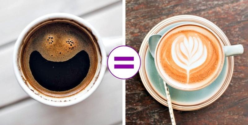 Nhiều người tin rằng một tách espresso chứa nhiều caffeine nhất. Nhưng thực ra, hương vị bão hòa của thức uống này có thể gây ra sự nhầm lẫn, vì nó không ảnh hưởng đến độ mạnh của thức uống.