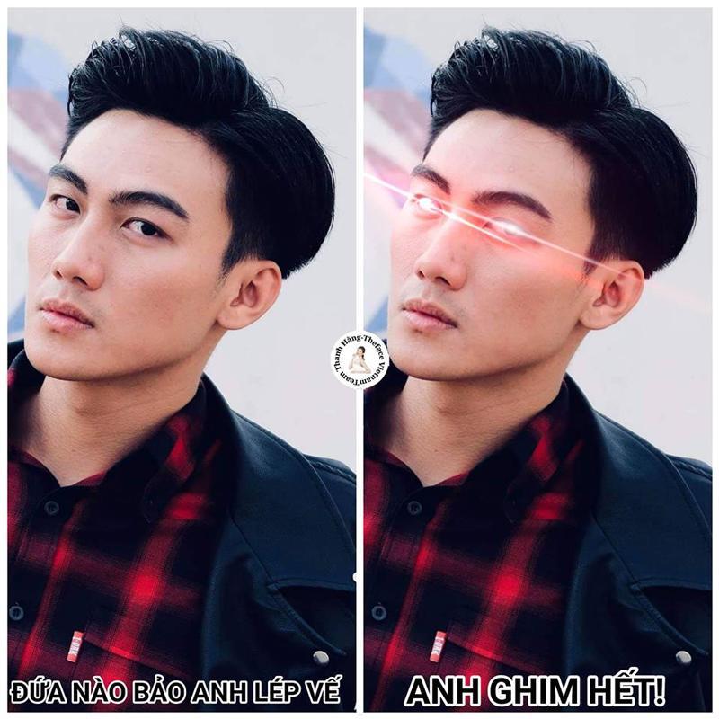 Bức ảnh cho thấy sự tiến bộ và nỗlực phi thường từ một thí sinh yếu kém, đến quán quân The Face Việt Nam 2018 của Mạc Trung Kiên.